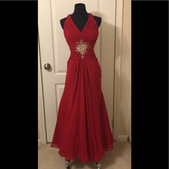5bf7f261bc0a Disney Dresses & Skirts - ELEGANT PETITE RED DISNEY ENCHANTED EVENING GOWN 6